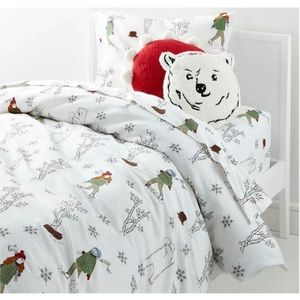 NEW CRATE & KIDS Lumberjack Twin DUVET COVER ONLY